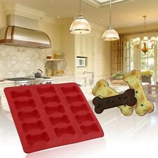 15-cavity Dog Bone Cake Biscuit Mold Mould Soap Mold Silicone Flexible Tool SY