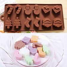 1Pc Christmas Snowman Silicone Cake Cookies Mould Baking Chocolate Ice Cube Tray