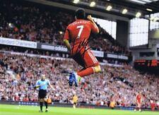 Liverpool legenda LUIS SUAREZ firmato 16 x 12 obiettivo Festa Stampa