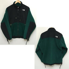 The North Face Vintage Denali Jacket Fleece Full Zip Mens Sz M GREEN Black