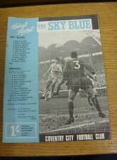 06/01/1968 Coventry City v Arsenal  (Light Crease, Rusty Staples).  We are pleas