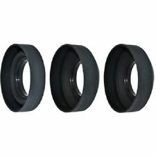 40.5mm 3-Stage Screw-in Rubber Lens Hood for JVC Nikon Olympus Pentax Samsung