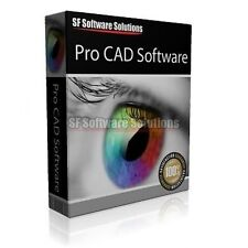 PRO CAD COMPUTER AIDED DESIGN SUITE FOR PC CD. SUPPORTS 2D, 3D, ANIMATION & MORE