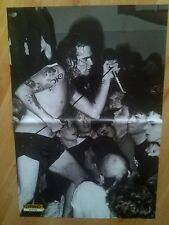 Black Flag Henry Rollins Punk Rock Double Page Poster British Kerrang Magazine