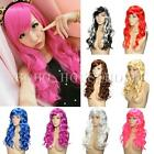 Full Curly Hair Party Cosplay Long Wavy Colorful Head Women Girl Wigs Heat Sexy