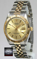 Rolex Datejust Thunderbird Vintage 14k Yellow Gold & Steel Mens Watch 1625