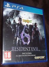 Resident Evil 6 HD Remake Playstation 4 PS4 NEW SEALED