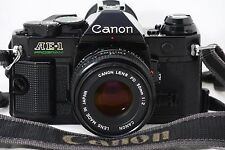[EXCELLENT+++++] Canon AE-1 Program Black + NEW FD 50mm F/2 Lens #429443