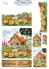 3D Trinitage Pop-up Card Making Paper Tole Rose Cottage NEW