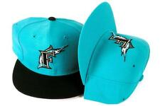 2 Vintage New Era SIZE 7 Florida Marlins Fitted 5950 Teal MLB Baseball Hats Caps