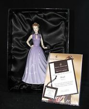ROYAL DOULTON HAND PAINTED PORCELAIN FIGURINE PRETTY LADY PEARL HN4733-2005+BOX