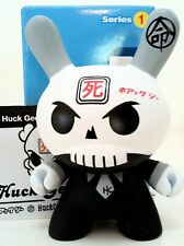 "DUNNY 3"" SERIES 1 HUCK GEE SKULLHEAD w/BOX & CARD 1/12 KIDROBOT 2004 TOY FIGURE"
