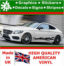 "10"" High Car Side Stripes Graphic Decal Vinyl Stickers Van Auto Rally Race F1_68"