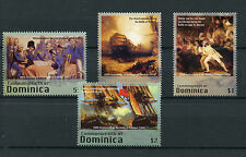 Dominica 2005 MNH Battle of Trafalgar 200th 4v Set Nelson Ships Paintings Stamps