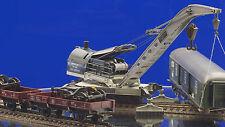 H0 SNCF 85 Tonnen Eisenbahn Kran 559 Tipp: Video schauen! mit 2 Materialwagen