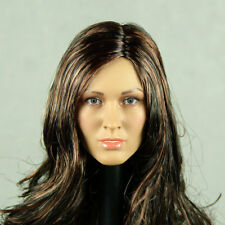 1/6 Scale Phicen, Hot Stuff - Caucasian Female Head Sculpt w/ Brunette Hair