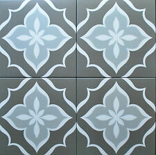 8X8 Flora Antique Grey Porcelain Stoneware Wall and Floor Tile