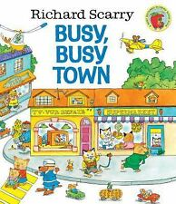 Giant Little Golden Book: Busy, Busy Town by Richard Scarry (2000, Hardcover)