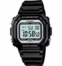 Casio Digital Chronograph Watch, Black Resin, Alarm, 7 Year Battery, F108WHC-1A