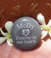Large- Personalized Pet Memorial Stone Engraved Dog Memorial Garden Stone Marker