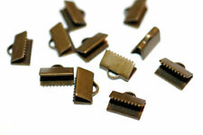 40pc Brass Ribbon end Clamps 10x7mm 1-3 day Shipping