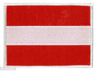 "Austria Flag Embroidered Patch 12cm X 9cm (4 3/4"" X 3-1/2"")"