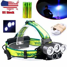 80000Lumen 5x CREE T6 LED Headlamp USB Rechargeable 18650 Headlight HeadLamp MT