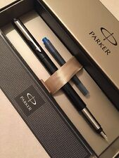 PARKER VECTOR BLACK CT FINE ITALIC NIB FOUNTAIN PEN-GIFT BOX-NEW OLD STOCK