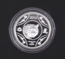 2010 $1 YEAR OF THE TIGER LUNAR SERIES Silver Proof Coin Australia