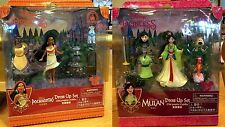 Mulan & Pocahontas Polly Fashion Dress Up Play Set Disney World Theme Parks NEW