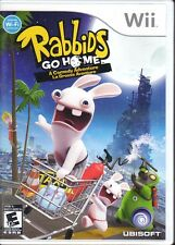 3 NINTENDO WII Games RABBIDS GO HOME & RAVING RABBIDS & RAYMAN TV PARTY Complete