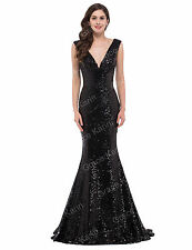 GRACE KARIN@ Mermaid Long Wedding Sequins Prom Evening Formal Gown Party Dresses