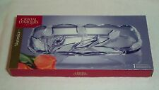 """Cristal D'Arques Paris Veronica Crystal Tulip Hors D'oeuvres Snack Tray 14 3/4"""""""