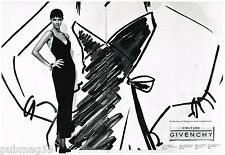 Publicité Advertising 1994 (2 pages) Haute Couture Givenchy par Herb Ritts