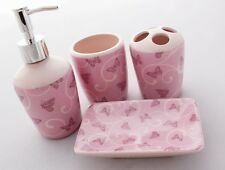Giani 4 Piece Butterfly Bathroom Accessory Set.