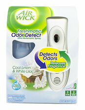 Air Wick Freshmatic Automatic Spray Air Freshener  w/Odor Detect Cool Linen
