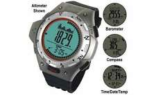 La Crosse Altimeter Barometer Thermometer Chronograph Sports Watch Silver
