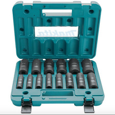 Makita A-96372 1/2-Inch Drive 6-Point 14-Pc. Deep Well Impact Socket Set