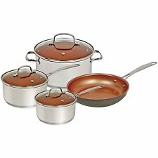 NuWave 7 Piece Induction Cookware Set, Non Stick, Silver