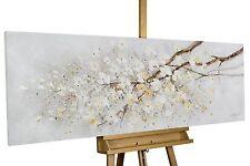 Acryl Gemälde 'KIRSCHBLÜTEN ZWEIG'   HANDGEMALT   Leinwand Bilder 150x50cm