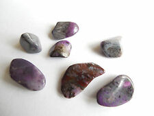 7pc RARE TUMBLED SUGILITE from SOUTH AFRICA 10-18mm Minerals #1A