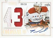 13/14 NATIONAL TREASURES COLOSSAL AUTOGRAPH JERSEY NUMBER Tom Wilson #9/10 2CLR