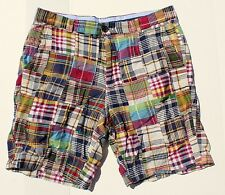 Brooks Brothers 33W Gentleman's Patchwork India Madras Check Cotton Shorts