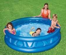 "Intex Soft Side Pool 74"" Round Kids Swimming Wading Pool"