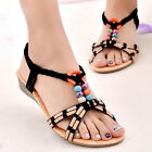 New Summer Women Bohemia Flat Shoes Beach Sandals Slippers Flip Flops