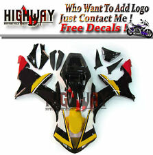 Injection ABS Bodywork Fairings Kit For Yamaha YZF R1 02-03 Carene Yellow Black