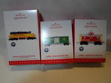 2015 Hallmark Keepsake Ornament Lionel Trains Set Of 3 Chessie System  B42