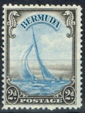 Bermuda 1938 2d Light Blue & Sepia SG112 Fine Lightly Mtd Mint