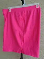 NEW  WOMENS JUST MY SIZE RELAXED FIT STRETCH WAIST POCKET SHORTS FUCHSIA  5X