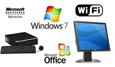 "HP ELITE 8300 i5 3.1GHz WINDOWS 7 PRO WiFi DESKTOP 8GB 1TB HDMI PC + 19"" MONITOR"